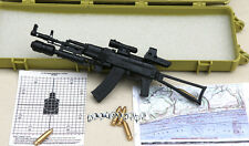 BattleField 1:6 RUSSIAN AK74 AK47 1/6 gun Modern Warfare 12' Figure black