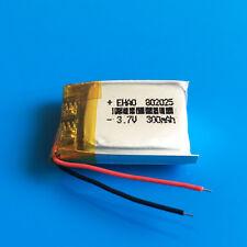 3.7V Li Po Battery 300mAh 802025 for Headphone Mp3 Mp4 Gps Bluetooth Smart Band