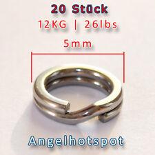 20 Sprengringe | SEHR STARK | 12KG Tragkraft | Ø5mm | Splitringe Angelhotspot X1