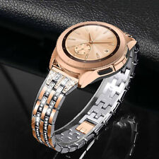 1xWomen Metal Link Wrist Band Bling Strap For Samsung Galaxy Watch Active 2 40mm