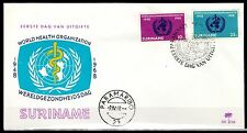 Suriname - 1968 20 years WHO - Clean unaddressed FDC!