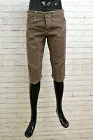 Bermuda Uomo Carlo Chionna 9.2 Taglia 33 Marrone Cotone Elastico Pantalone Hose