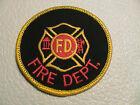FIRE DEPARTMENT F.D. HOOK & LADDER FIRE WATER HYDRANT MALTESE LOGO BLACK PATCH