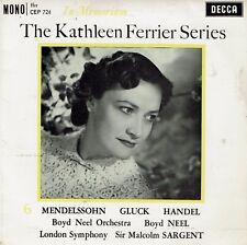 "Kathleen Ferrier(7"" Vinyl)The Series No.6-In Memoriam"