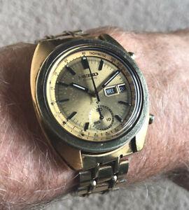 Superb Vintage Seiko Golden Pogue 6139-6015 Serviced Rare NR!