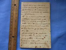 Very Old Preacher's Hand Written Sermon Early 1800's