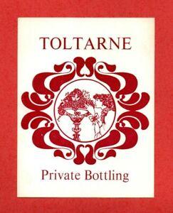 1980s ? 2 x TOLTARNE Private Bottling WINE BOTTLE LABEL drink glass .. a mystery