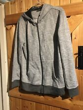 """Peacocks Grey Marl Zip Up Cardigan Hoodie. Size L Chest 40"""". Lovely Hoody"""