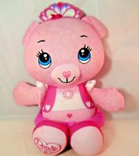 Doodle Bear Stuffed Animal Fisher Price Pink With Crown