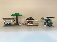 Lego News Helicopter, Coffee Stand, and Tram Stop from 60047