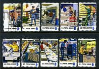 US #1489-1498 Postal Service Employees Complete Used Set of 10 Stamps