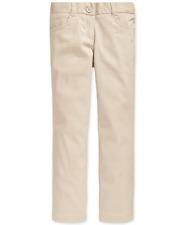 Girls Nautica ⚓ Size 5 School Uniform Pant Khaki Adjustable Waist Stretch ❤ KD48