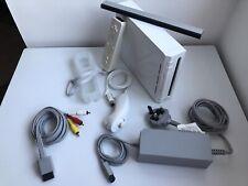 Nintendo Wii Console, Sensor Bar,  x Remote Control+Cover,1 x Nunchuk, Leads