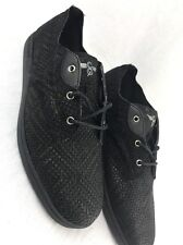 CREATIVE RECREATION Vito Lo Black Leather Woven Shoes MENS FASHION SNEAKERS 10M