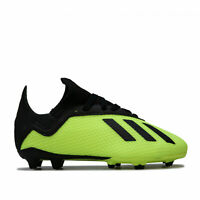 adidas Junior Boys Predator 18.3 Firm Ground Football Boots in Yellow and Black