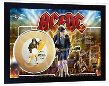 ACDC AC/DC High Voltage Mini Gold Vinyl CD Record Signed Framed Photo Print