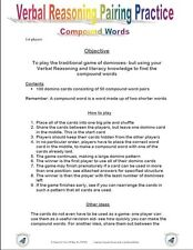 11+PLUS VERBAL REASONING COMPOUND DOMINO GAME-NFER/BOND/CEM