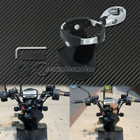 Motorcycle Handlebar Mounted Clamp On Cup Holder Beverage Water For Harley MP