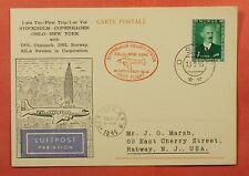 Dr Who 1946 Norway First Flight Sas Oslo-Ny Postcard C227785