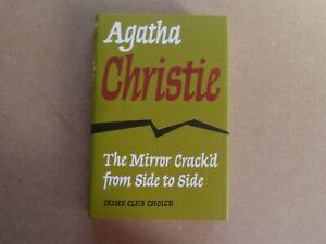 CRIME CLUB AGATHA CHRISTIE MODERN FACSIMILIE BOOK HB ~ THE MIRROR CRACK'D SIDE