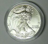 1997 American Silver Eagle 1 oz .999 Fine Silver Dollar Uncirculated in Capsule