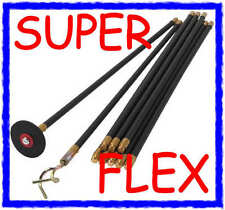 30ft SUPER FLEX PLUMBERS BLOCKED DRAIN ROD SET