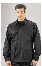 Shirts Black BDU, Military Poly-Twill Shirts Tops -X-LARGE, 2X, 3X, 4X, 5X