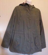 Marks & Spencer Indigo UK14 EU42 US10 new khaki hooded parka-style jacket