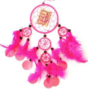 Dream catcher Capiz shells Fushia pink colour bedroom lounge porch 9cm DC9a 002