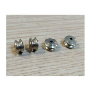 Jantes convexes en acier traité chrome - DINKY TOYS - Lot de 4