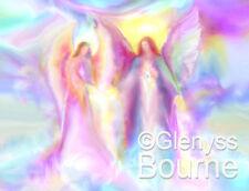 Infinite Love Healing Guardian Angel Art Spiritual Painting by Glenyss Bourne