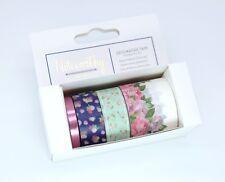 (0.25€/m) GRAPHIC FLORALS Tape 4 Stück - Blumen Rosen Klebeband Papermania