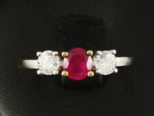 Feiner Brillant Rubin Ring ca. 1,10ct  750/- Gelbgold Weißgold