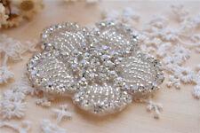 Wedding Accessories Trimming Beaded Motif Diamante Flower Bridal Dress Applique