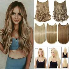 US HiddenThick Halos Hair Invisible Band Wire Hair Extensions Secret Headband K