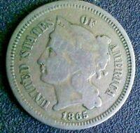 1865 3 Cent Nickel Piece  --  MAKE  AN OFFER!
