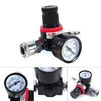 1/4 Zoll Luftdruckregler Manometer Regelventil Druckluft Luftkompressor 0-1Mpa