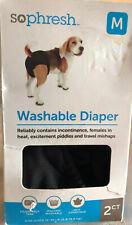 2 PACK SoPhresh Washable Diaper for Dog/Puppy Training NEW MEDIUM