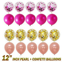 "30-50 pcs 12"" Chrome Metallic Pearl Latex Balloons for Birthday Wedding Party UK"