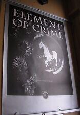 "ELEMENT OF CRIME Damals Hinterm Mond 34"" x 24"" original  promo poster 1991"