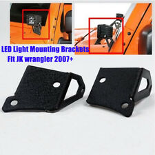 2x Windshield LED Work Light Pillar Mounting Bracket For 07-15 Jeep Wrangler JK
