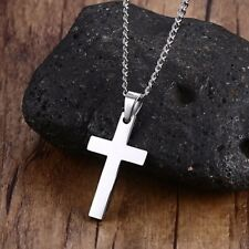 Stainless Steel Simple Cross necklace 24 inch chain