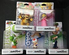 MARIO PARTY 10 AMIIBO SET 5 Figures TOAD PEACH BOWSER YOSHI LUIGI US 1ST PRINTS