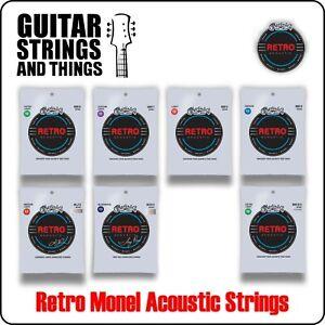 Martin Retro Monel Corrosion Resistant Acoustic Guitar Strings 6 & 12 String