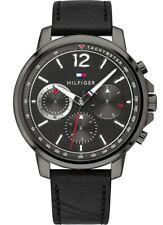 Brand New Tommy Hilfiger Landon Men's Tachymeter Black Wrist watch 1791533