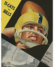 Hamilton Tiger-Cats vs Buffalo Bills (1961) Vintage Wall Art Poster, 8x10 Photo