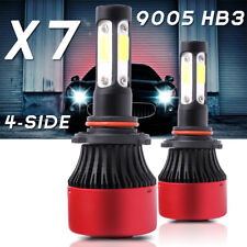 Pair 4-sides LED Headlight Kit 9005 HB3 H10 9140 9145 180W 6000K 28500LM Bulbs