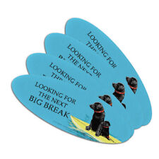 Looking For Next Big Break Surfing Dogs Oval Nail File Emery Board 4 Pack