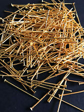 50 pcs Gold Plated Metal Flat Head Pin 26mm for Jewelry Design Finding
