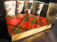 "Magnificent Rare Tartan Ware Book ""Lady of The Lakes"" c1863 Edinburgh Tartanware"